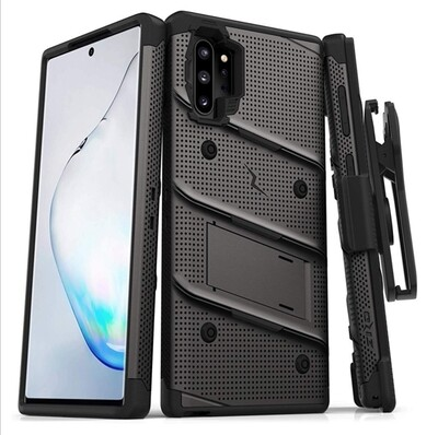 Case Galaxy Note 10+ / Note 10 Plus Recio Funda 360° c/ Gancho y Soporte Integrado