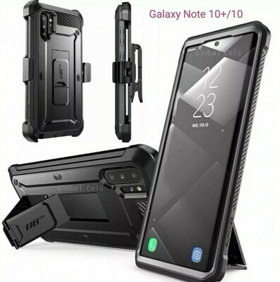 Case Galaxy Note 10 Plus Note 10+ Funda 360° c/ Tapa Gancho Correa c/ Soporte Inclinable