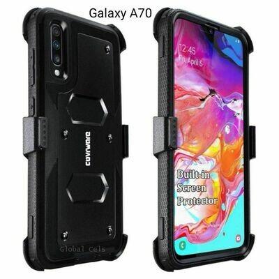 Case Protector Galaxy A70 2019 Recio de 3 partes c/ Mica c/ Clip Correa