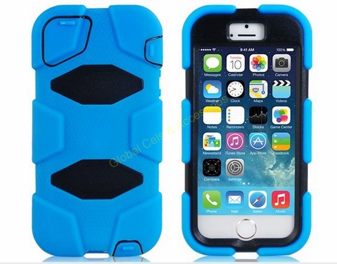 59c6eb8b15c Estuche Iphone 5 ó 5s con clip correa desmontable diseño único de robot 2  en 1