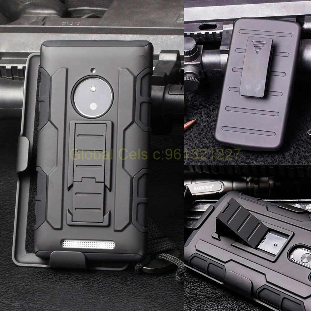 Protector Nokia Lumia 830 holster Gorila con parante de inclinación y gancho