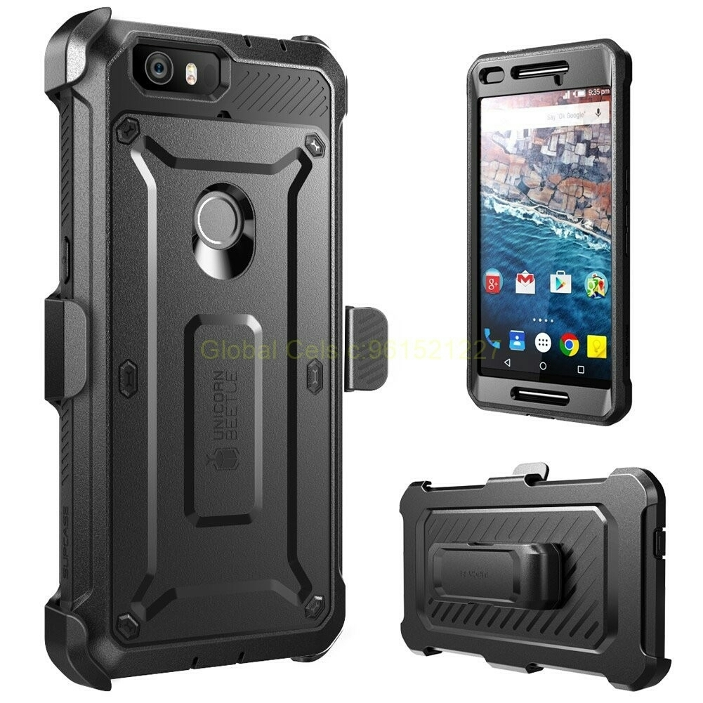 Protector Supcase Huawei Google Nexus 6P con gancho y con Mica protectora Integrada 00074