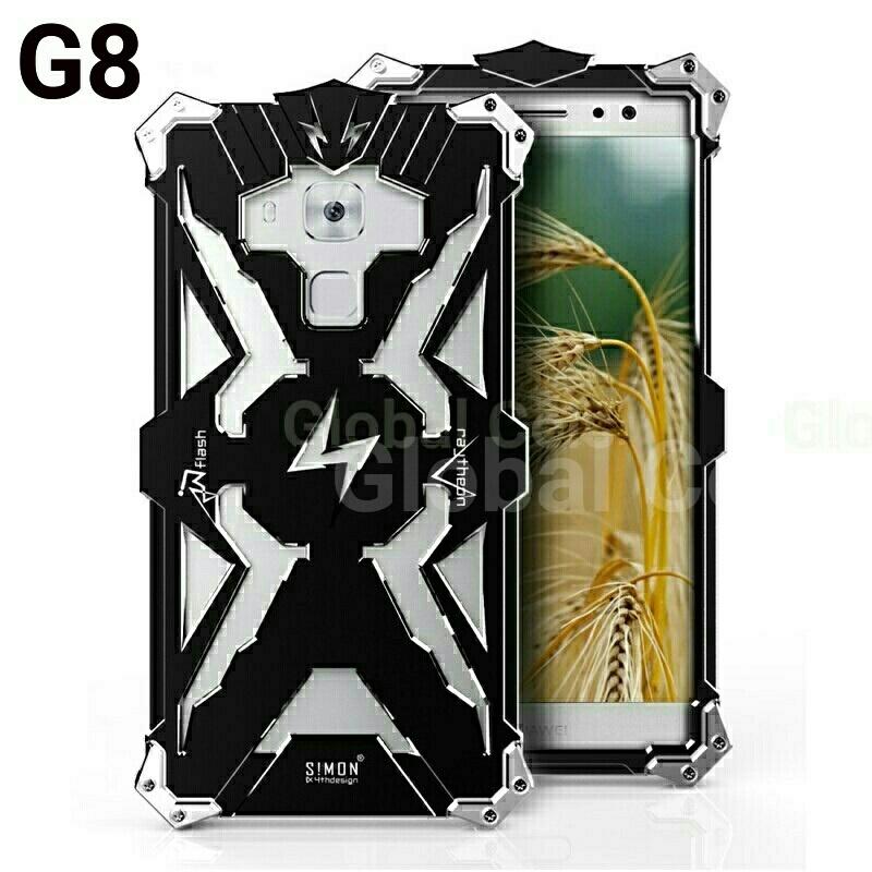 Case Funda Metal Huawei G8 G8 Rio G8 THOR Protector para caídas con pernos atornillables Armadura 00176