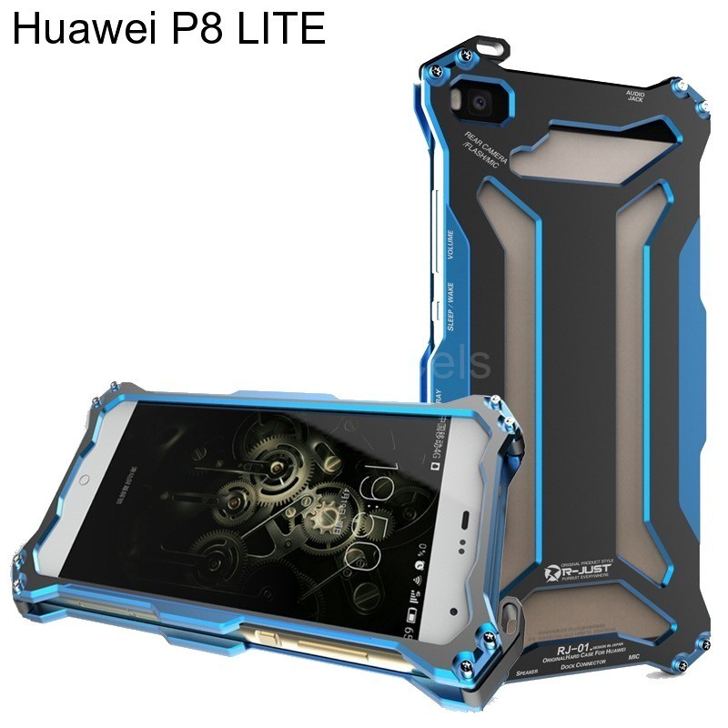 Protector Huawei P8 LITE Metalico Extremo Pernos Atornillables + Vidrio Templado 00109