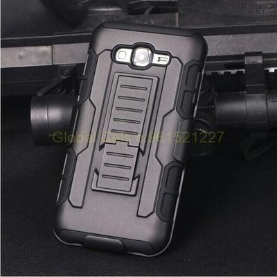 Case Samsung Galaxy J7 Holster Armor gancho para correa y apoyo inclinable