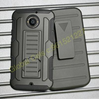 Case Motorola MOTO X 2da gen / Moto X2 con gancho y parante de inclinación