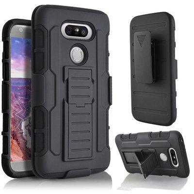 Carcasa LG G5 holster Gorila Negra con gancho correa y soporte