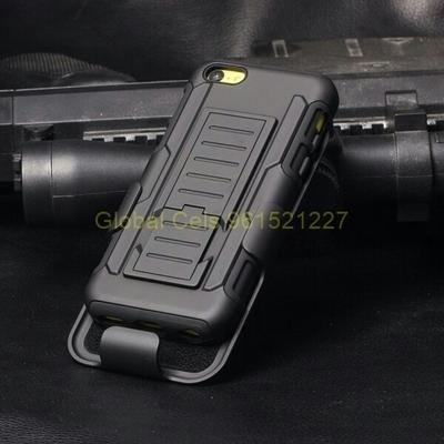 Case IPHONE 5C en holster Gorila con gancho giratorio para llevar y parante