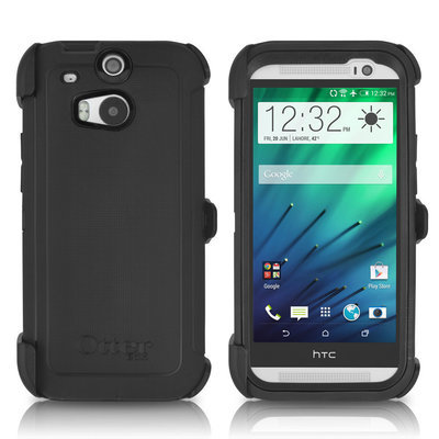 Case Otterbox Defender Htc One M8 Protector Extremo Gancho Correa Negra