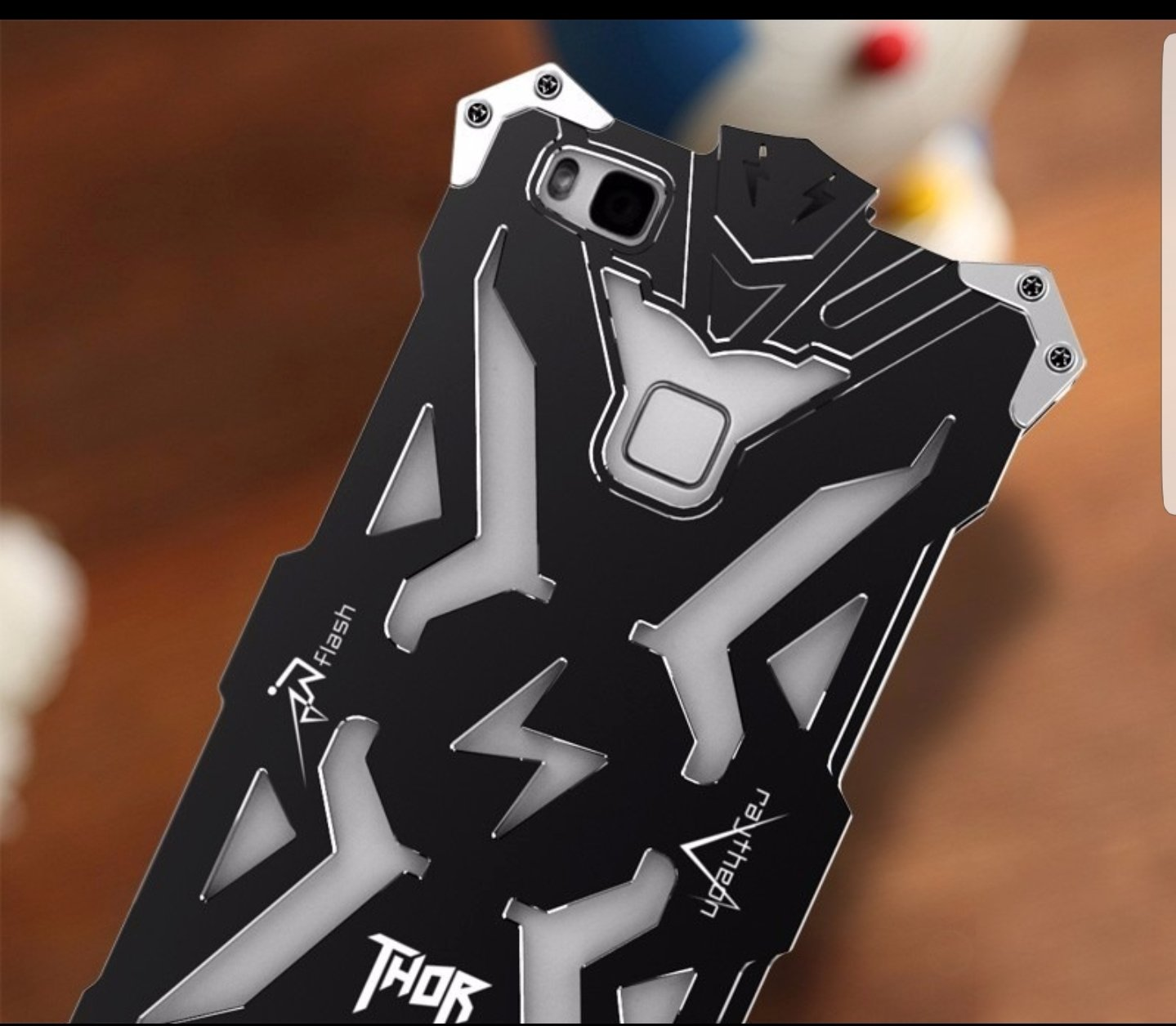 Case Huawei P8 Lite Funda de Metal con Pernos Thor 00196