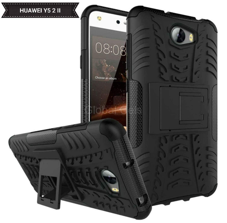 Case Huawei Y5 2 Y5 II Negro carcasa con Soporte  00218