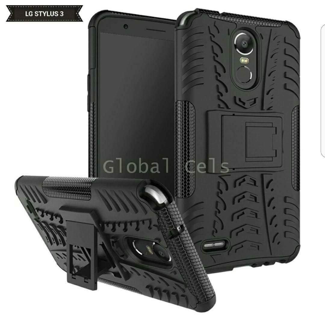 Case LG Stylus 3 Stylo 3 Negro con Soporte Inclinable