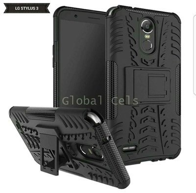 Case LG Stylus 3 Stylo 3 Negro con Soporte Inclinable