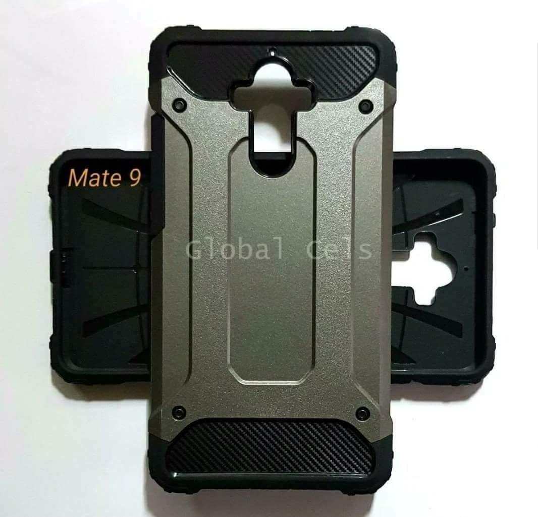 Case Huawei Mate 9 Recios de 2 partes AntiGolpes Gris y Rosado  00224