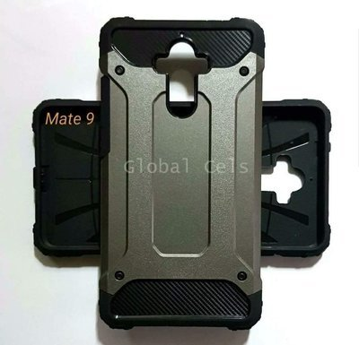 Case Huawei Mate 9 Recios de 2 partes AntiGolpes Gris y Rosado