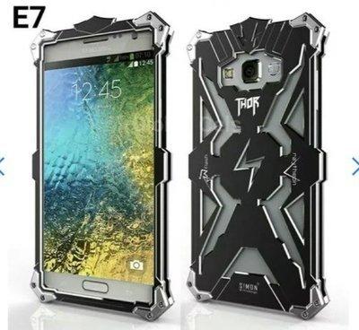 Case Galaxy E7 Armadura Metálico con pernos para caídas e Impactos