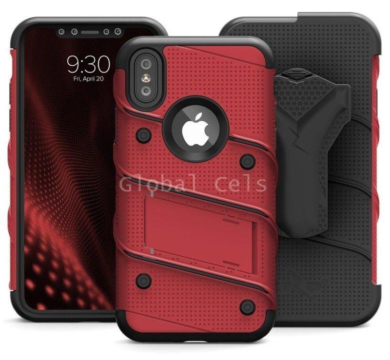 Case Iphone X Iphone 10 Carcasa con Vidrio Templado USA Rojo 00264