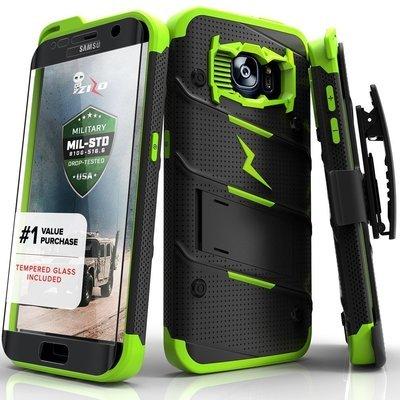Case Galaxy S7 Edge Zizo con Vidrio Templado con Gancho y Soporte