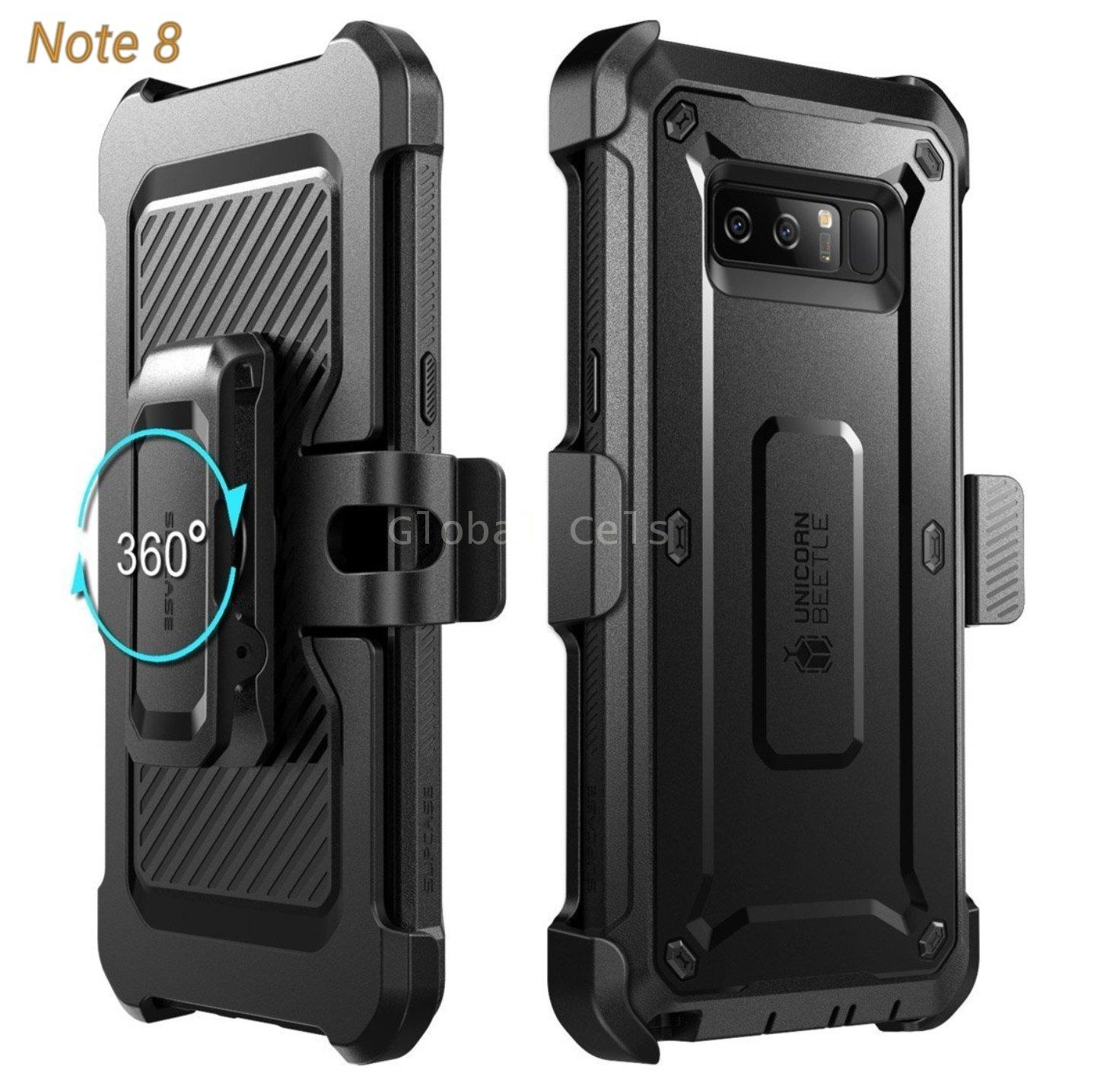 Case Protector Galaxy Note 8 Carcasa USA 360 c/ Mica c/ Gancho Parante 00277