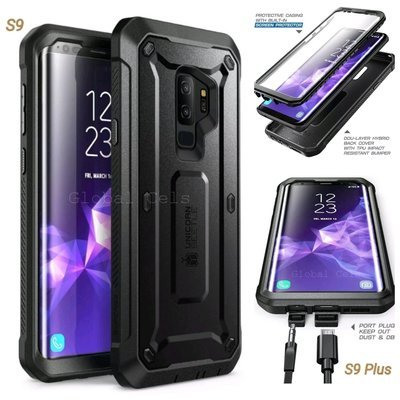 Case Galaxy S9 Normal S9 Plus Protector USA Extremo 360 c/ Mica c/ Gancho