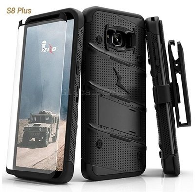 Case Protector Galaxy S8 Plus Z-bold USA Negro Total c/ Vidrio T