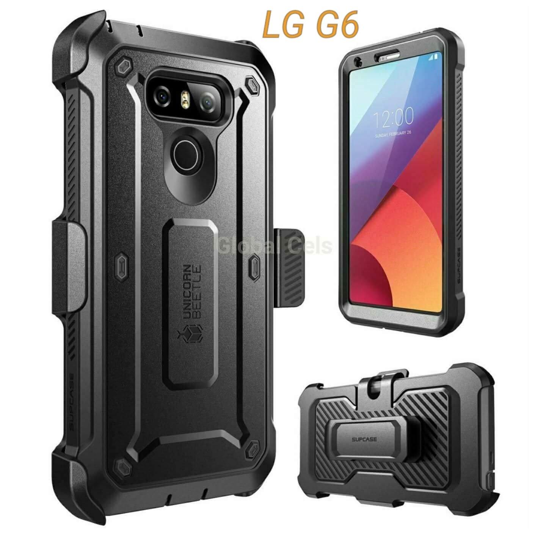 Case Lg G6 Supcase Protector 360 c/ Protector de pantalla Integrada c/ Gancho 00308