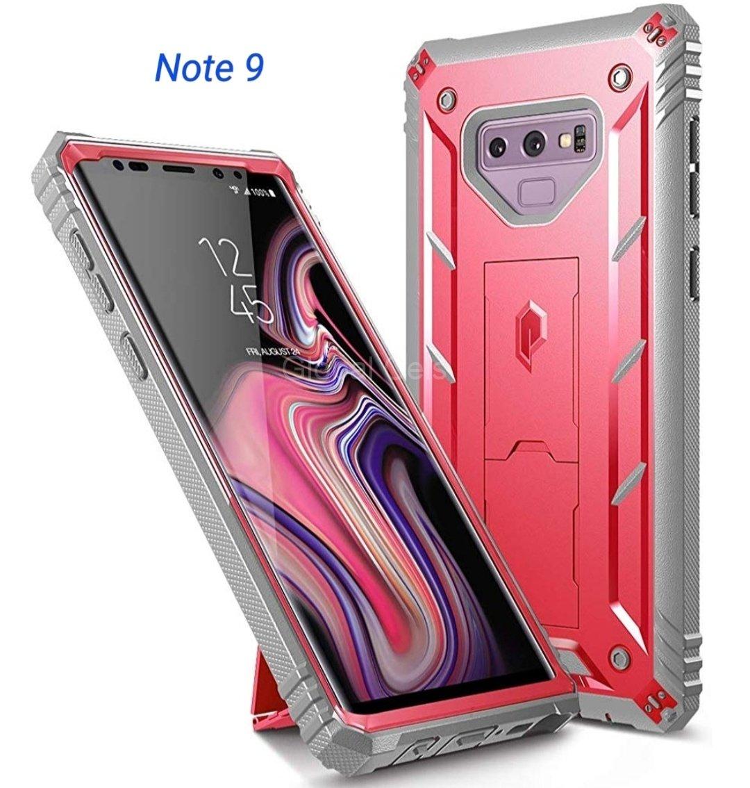 Case Galaxy Note 9 Carcasa 360 de alta protección c/ Mica Rosado 00313