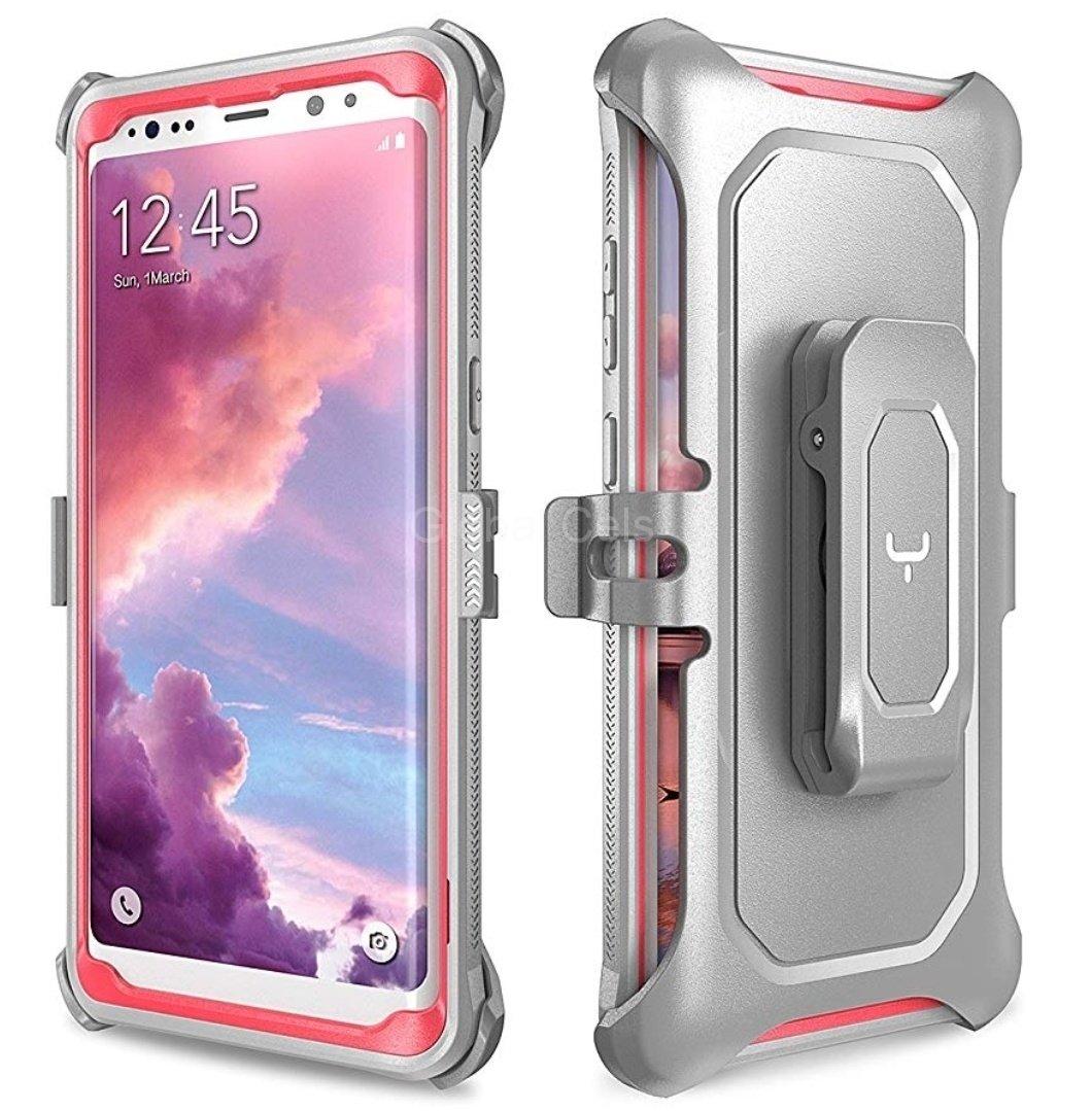 Case Galaxy Note 9 Carcasa 360 de alta protección c/ Mica Rosado
