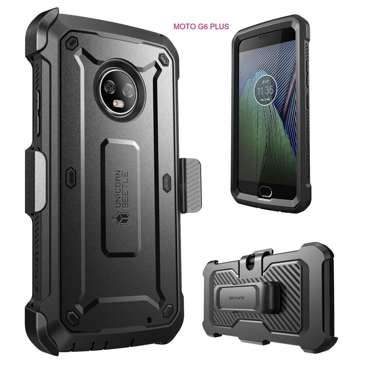 Case Moto G6 Plus Armadura Supcase Pro Carcasa 360 c/ Mica c/ Gancho