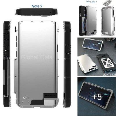 Case Galaxy Note 9 Tapa de Acero Protector Todo Terreno de 4 Partes - Silver