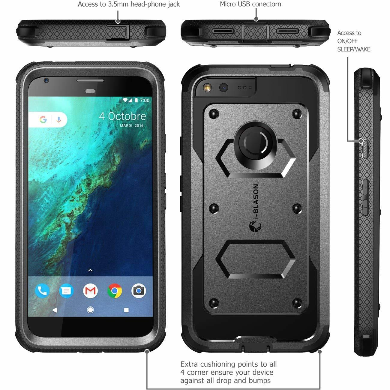 Case Google Pixel XL Funda 360 I-Blasón Armorbox Supcase c/ Gancho c/ Mica