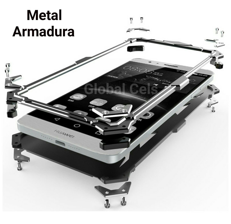 Case Funda Metal Huawei G8 G8 Rio G8 THOR Protector para caídas con pernos atornillables Armadura