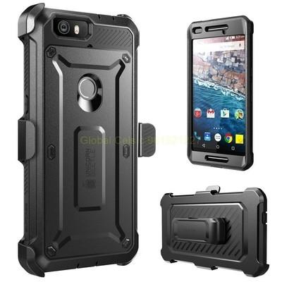 Case Huawei Nexus 6P con gancho y con Mica protectora Integrada c/ Gancho para Correa Negro