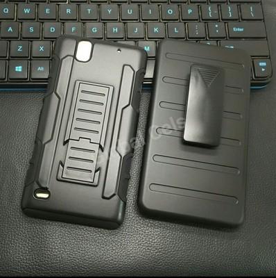 Case Sony Xperia C4 gancho para la correa Holster Armor más parante inclinable