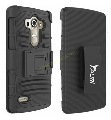 Case LG G4 BEAT Holster Rugged Funda con gancho para correa y parante central