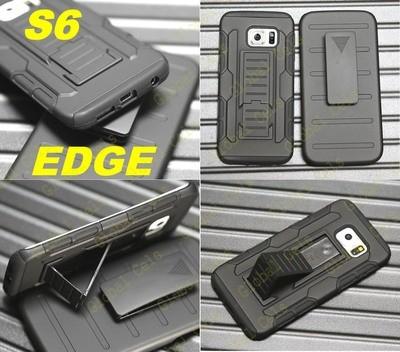 Carcasa Galaxy S6 Edge S6 Edge Plus + gancho correa + parante inclinable 