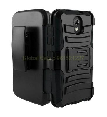 Case Protector para HTC Desire 526 en Negro Holster Gorila llévelo en correa