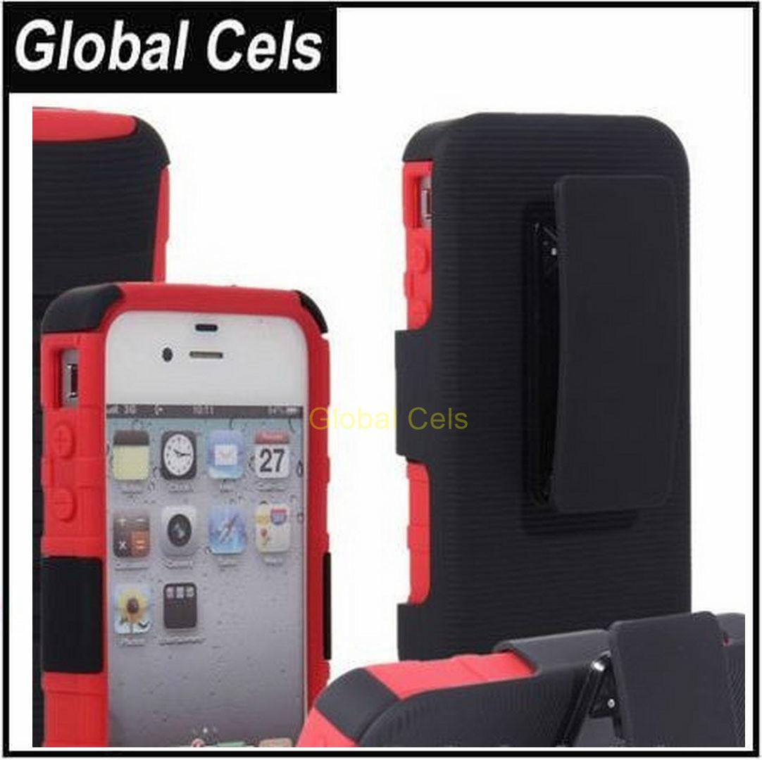 6675141b0bb Estuche iPhone 4S / 4 Clip Correa Pantalón más Protector Pantalla