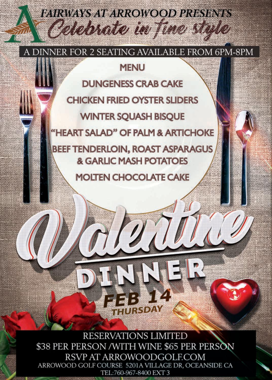 Valentine Dinner at Fairway's