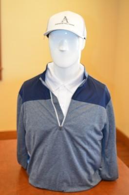 Adidas Men's 1/4 Zip Pull Over Outwear, Navy