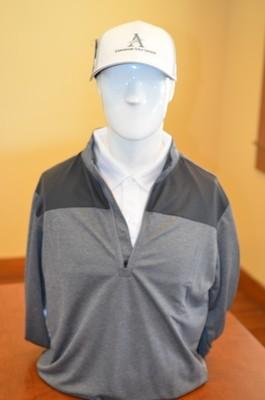 Adidas Men's 1/4 Zip Pull Over Outwear, Gray