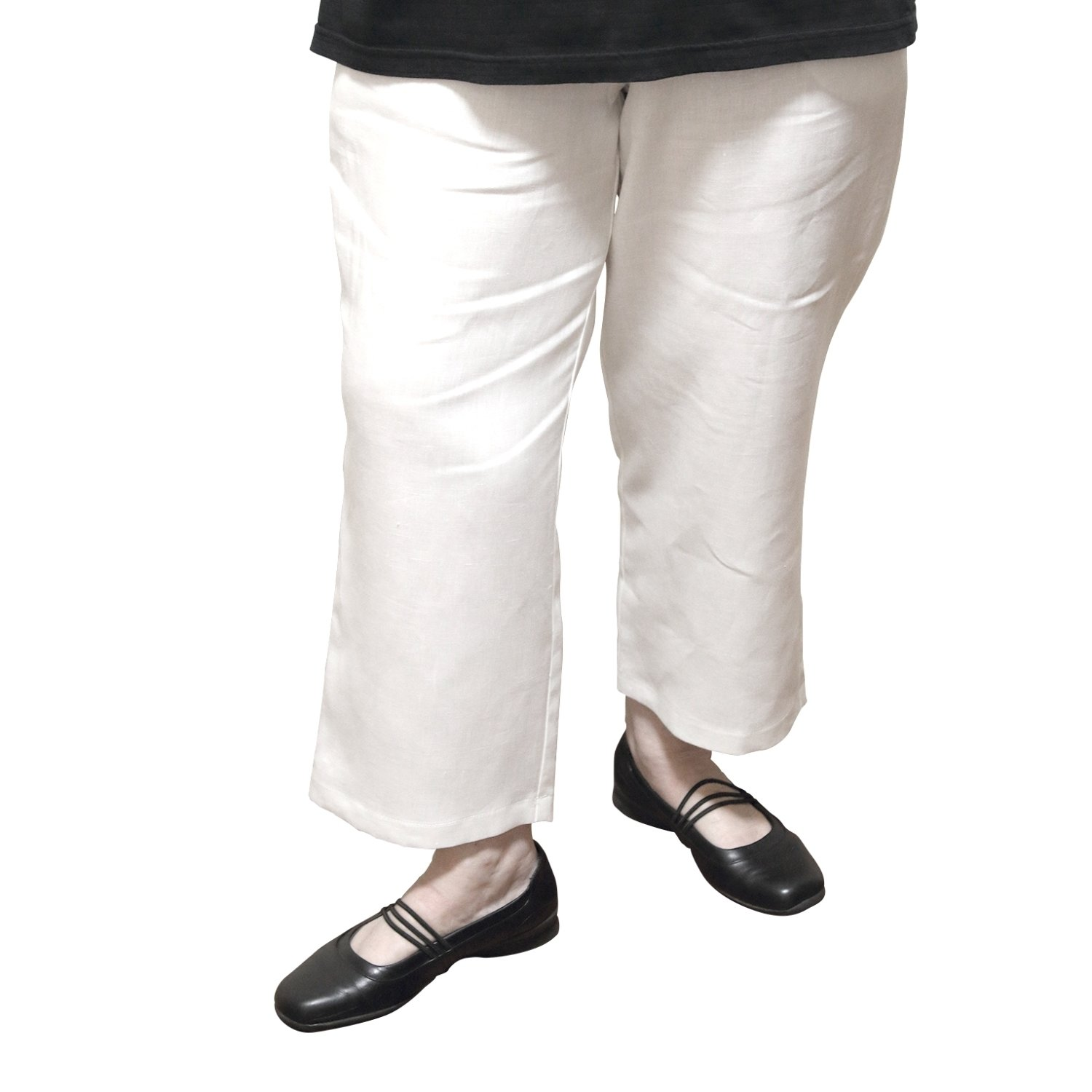 colours and striking choose best super specials White Linen Pants - 7/8 Length