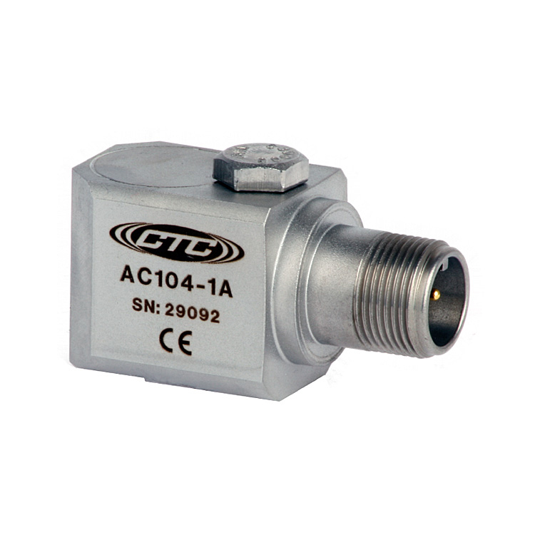 AC104 Series Multi-Purpose Accelerometer, Side Exit Connector/Cable, 100 mV/g 00243