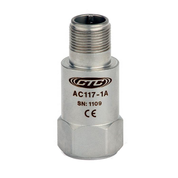 AC117 Series Multi-Purpose Accelerometer, Top Exit Connector/Cable, 50 mV/g 00249