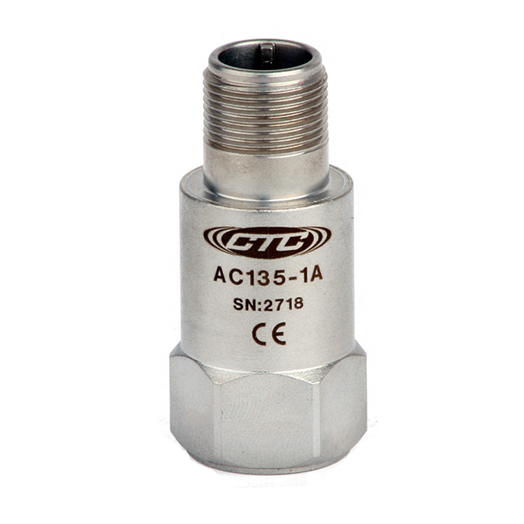AC135 Series Low Frequency Accelerometer, Top Exit Connector/Cable, 500 mV/g 00252