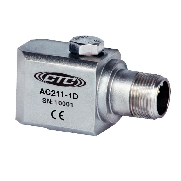 AC211 Series Premium Accelerometer, Side Exit Connector/Cable, 100 mV/g 00257