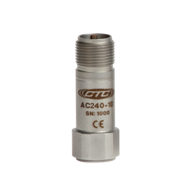 AC240 Series Premium Small Accelerometer, High Frequency, Top Exit Cable, 100 mV/g 00260