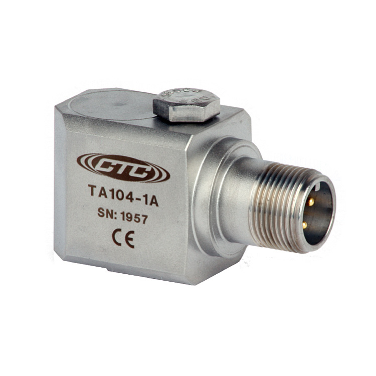 TA104 Series Dual Temperature/Acceleration Output, Side Exit Connector/Cable, 100 mV/g, 10 mV/°C 00276
