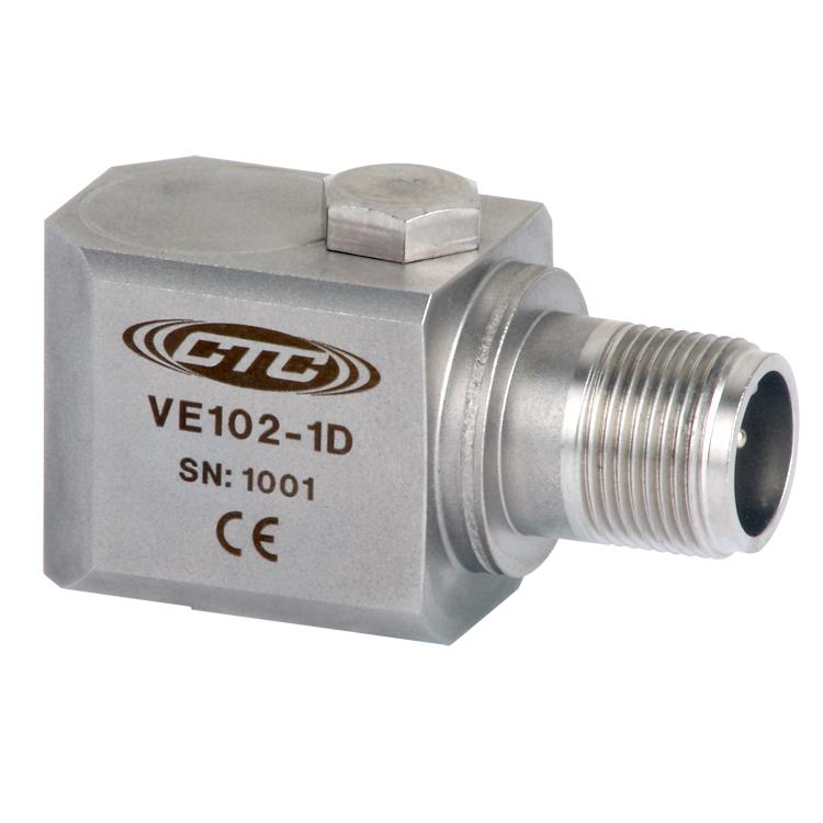 VE102 Series Piezo Velocity Sensor, Side Exit Connector/Cable, 100 mV/in/sec 00278