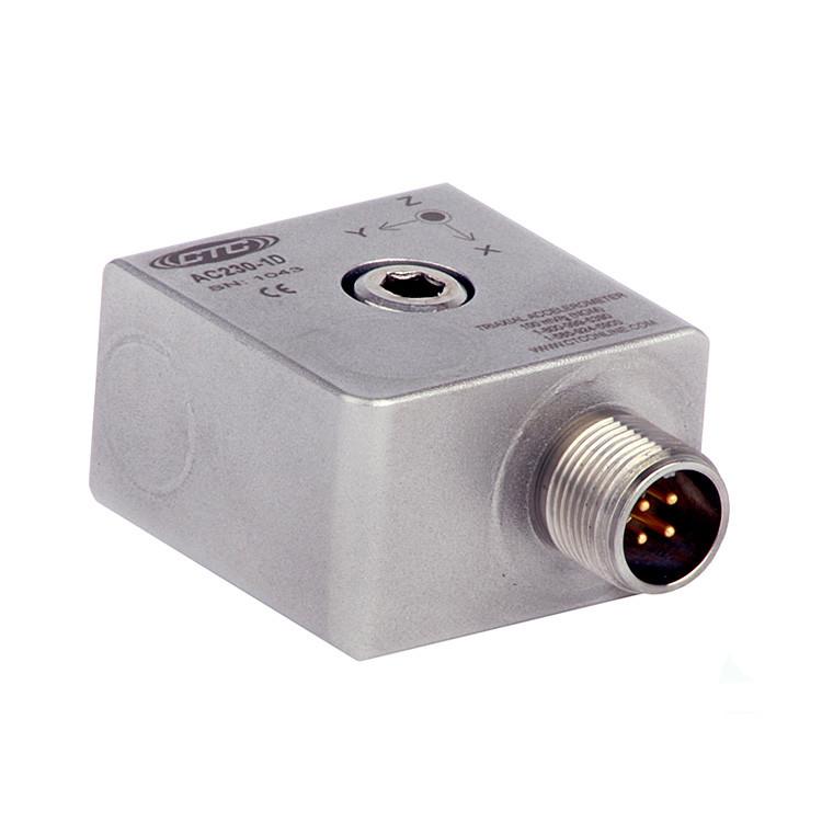 AC230 Series Premium Accelerometer, Triaxial, 100 mV/g
